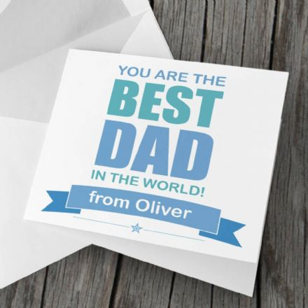 Personalised 'Best Dad' Card For Father's Day